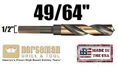 29710 Norsemanviking Usa Drill Bit Super Premium High Speed 4964 X 12 Shank
