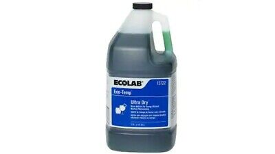 Brand New Ecolab Ecotemp Ultra Dry Industrial Dishwashing Fluid 1 Gallon Sealed