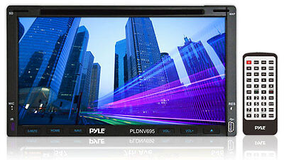 "PYLE PLDNV695 7"" LCD Double-DIN CD/MP3/USB Car Receiver +GPS Nav +Bluetooth"