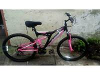 Ladies pink silverfox bike including helmet