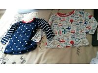 9-12 month set of two brand new mini club long sleeved t shirts