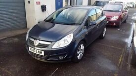 Vauxhall Corsa with 12,500 Miles, Full Service History, owned from new. Lots of Extras. Minehead.