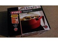 Pyrex brand new cast iron slow cooker