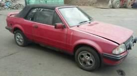 Ford escort 1.6i cabriolet 1985