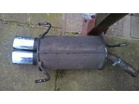 Exhaust system for corsa