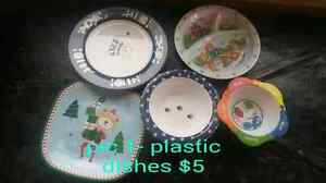 Booster seat and plastic dishes Cambridge Kitchener Area image 3
