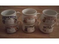 Set of 6 Retro Soup Mugs