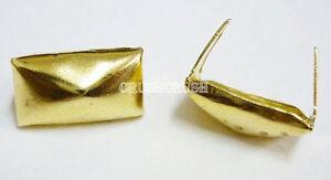 50pcs-12-x-7-mm-Gold-Pyramid-Regtangle-Studs-Spots-Punk-Rock-DIY-NAILHEADS-S059