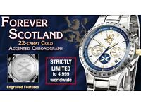 Forever Scotland 22-carat gold accented chronograph