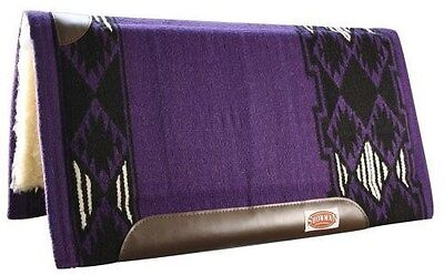 "Showman 36""x 34"" PURPLE Wool Top Saddle Pad Memory Felt Center! NEW HORSE TACK!!"