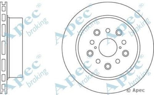 1x OE Quality Replacement Rear Axle Apec Vented Brake Disc 5 Stud 310mm - Single