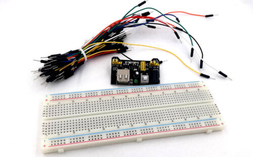 MB-102 Breadboard Power Supply Module + MB102 Breadboard + 65pcs Jump Cable Wire