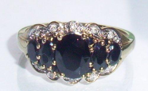 Vintage Sapphire Diamond Ring Ebay