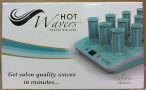NEW CalistaTools Set of 12 Hot Wavers Heated Hair Ion Hot Roller
