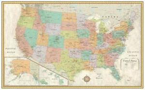 United States Map EBay - United states wall map laminated