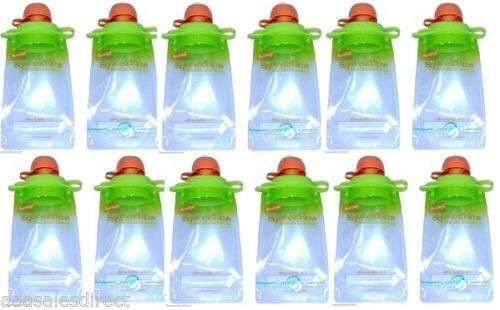 Reusable Baby Food Squeeze Pouches Snacks & Drink BPA Free *Choose Your Pack*