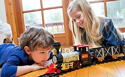 Train Set for Christmas Electric Toy Trains MOTA Classic Holiday Real Smoke