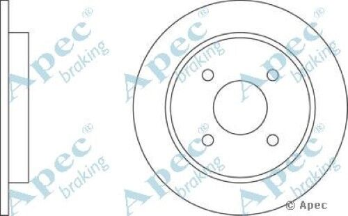 1x OE Quality Replacement Rear Axle Apec Solid Brake Disc 4 Stud 252.5mm Single