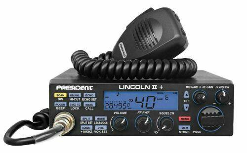 President Lincoln II + 10 Meter Amateur Ham Mobile Radio AM/FM/SSB/LSB/USB/CW