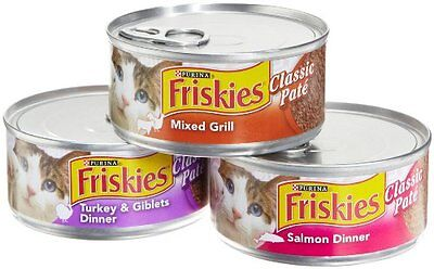 Cats Food Pack Of 24 Friskies Cat Classic Pate 3 Flavor 5 5 Ounce Cans Mix