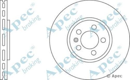 1x OE Quality Replacement Front Axle Apec Vented Brake Disc 5 Stud 288mm Single