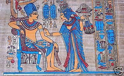 Ägypten Papyrus-Bild 30x40 - Audienz beim Pharao