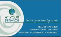 AT YOUR SERVICE CLEANERS & CARPET/ UPHOLSTRY CLEANERS