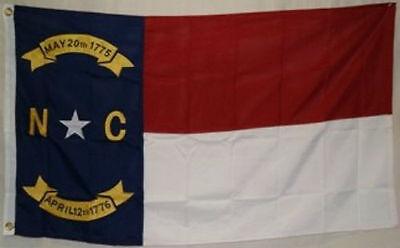 5x8 Embroidered Sewn State of North Carolina 600D Nylon Flag 5'x8' Heavy Duty