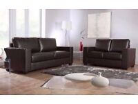BRAND NEW FAUX LEATHER BOX 3+2 SEATER SET!!!!! (GREAT OFFER)