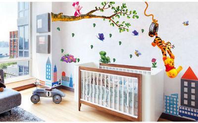 Winnie The Pooh Wall Stickers Nursery boy kid baby Room Vinyl Art Decal - Boys Room Decor
