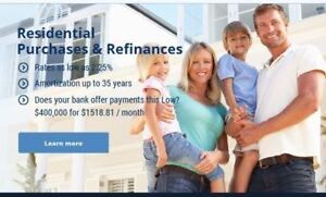 ✯RESIDENTIAL MORTGAGES $$$ with Cash Back Offer $$$ Low rates!