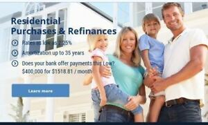 ✯Residential Mortgage---Superior Interest Rates +Cash Back Offer