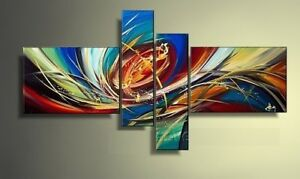 XD4-028 -Hand made (not printed) Oil painting , Abstract Art.