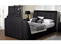 Galaxy Faux Leather TV Bed Frame KING SIZE