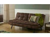 Bensons for bed texas leather faux sofa bed