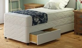 """**100% GUARANTEED PRICE!**BRAND NEW-Single/Double Divan Bed With 11"""" Thick Full Orthopaedic Mattress"""
