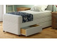 "**100% GUARANTEED PRICE!**BRAND NEW-Single/Double Divan Bed With 11"" Thick Full Orthopaedic Mattress"