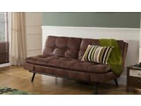 Texas faux leather sofa bed - Bensons for Beds - RRP £349.99