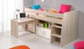 Children's bed and mattress