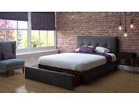 Double Bed - Real Leather - Like New