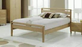 King Size Bed Frame Solid Ash wood Benson