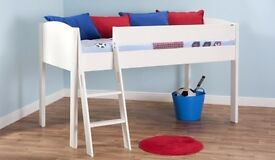 Quality White Stompa Mi-Zone mid sleeper single bed.