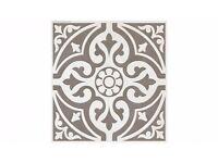 20x Devon Stone Feature Floor Tiles (grey) 33cmx33cm