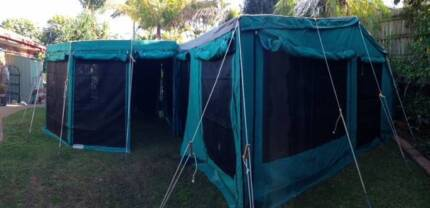 Large off-road camper trailer, with fully enclosed gazebo Petrie Pine Rivers Area Preview