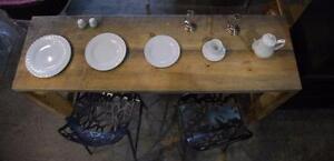 ABP Express -vaisselle classique/vintage Blnc/Arg. - MÉGA VENTE