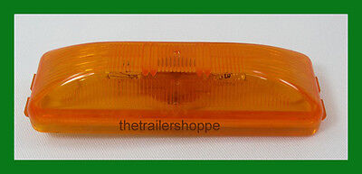 "Amber Clearance Side Marker Incandescent Light for Trailers 1"" X 4"" -2 Pieces"""