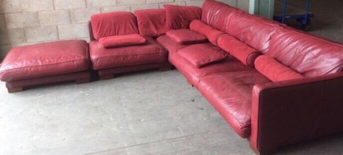 DFS California Very large leather modular Sofa cost £4,250 | in ...
