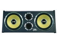 VIBE CBR 12'' TWIN ACTIVE SUBWOOFER ENCLOSURE (BUILT-IN AMP) 3200 WATTS PEAK