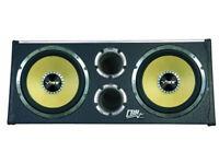 VIBE CBR 12'' TWIN ACTIVE SUBWOOFER ENCLOSURE (BUILT-IN AMP) 3200 WATTS PEAK.