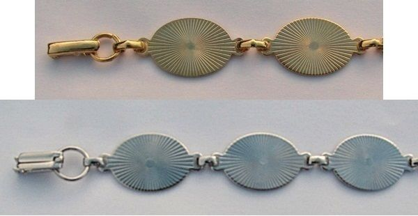 6 BRACELET Blanks/Forms ~ 6 OVAL PADS 20mm ~ 3 SILVER + 3 GOLD ~ You glue Cabs